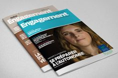 communication interne Engagement Engagement, Magazine, Cover, Projects, Books, Log Projects, Blue Prints, Libros, Book