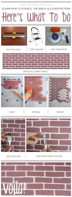 A DIY stencil tutorial using the Brick Allover pattern…
