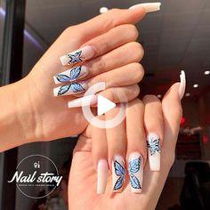 Le printemps est presque là! Pour vous donner une inspiration pour les ongles de printemps, nous avons trouvé 23 des meilleurs ongles de papillon sur Instagram. Blue Ombre Nails, Purple Acrylic Nails, Acrylic Nails Coffin Short, Best Acrylic Nails, Fancy Nails, Pretty Nails, Butterfly Nail Designs, Fire Nails, Dream Nails