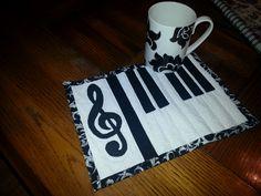 Musical Piano Mug rug More
