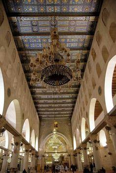 The Interior of Al Aqsa Mosque, Jerusalem, Palestine lσvє ♥ #bluedivagal, bluedivadesigns.wordpress.com
