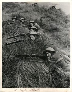 "1944- Group of Polish women commandos, nicknamed ""Pestkis"", shown training with rifles in Scotland."
