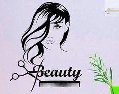 Pared calcomanía salón de belleza cabello Spa moda por CozyDecal