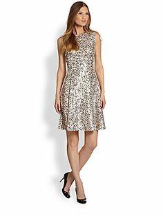 Kate Spade New York Emma Sleeveless Sequined Dress $798