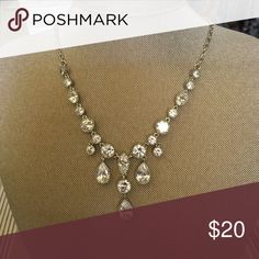 Your worth it! Imitation rhodium plated, cubic zirconia with lobster claw closure. Premier Designs Jewelry Necklaces
