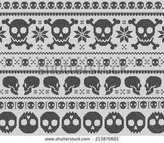 Skull Knit Pattern
