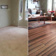 """""""This is just the beginning! We are taking this floor through the entire house. It is amazingly durable (pit bull durable!) and took our house to a new level of beauty."""" - Kristin, WA [Antique Strand Handscraped Bamboo]"""