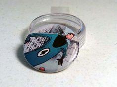 "Comic Book 1.5"" Button// Mister Fantastic, $1.00"