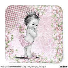 Pegatinas rosados de la princesa fiesta de pegatina redonda