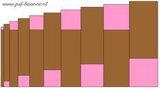 www.juf-lisanne.nl Montessori roze toren en bruine trap bouwvoorbeeld 3 / Montessori pink tower and broad stairs extension sheet 3