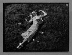 André Durst, Piguet Fashion (Lying on Grass), 1930-39
