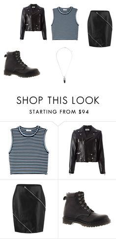 """Untitled #225"" by sierrapalmer10 on Polyvore featuring A.L.C., Yves Saint Laurent, Alexander Wang, Dr. Martens, Topshop, women's clothing, women, female, woman and misses"
