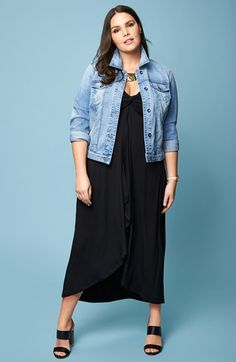 Lucky Brand Denim Jacket & City Chic Maxi Dress | Nordstrom