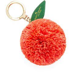 Kate Spade New York Women's Orange Keychain - Orange (2.055 RUB) ❤ liked on Polyvore featuring accessories, key chain rings, kate spade key ring, kate spade key chain, fob key chain and kate spade