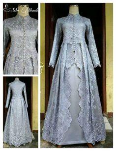 Dress Brokat Muslim, Dress Pesta, Muslim Dress, Model Dress Kebaya, Kebaya Modern Dress, Batik Dress, Lace Dress, Dress Muslim Modern, Couture Dresses