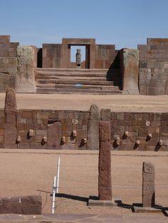 Portal, Ruins of Tiwanaku, Bolivia