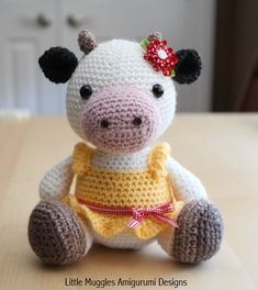 Crochet Pattern: Lulu the Dairy Cow - pattern on Etsy