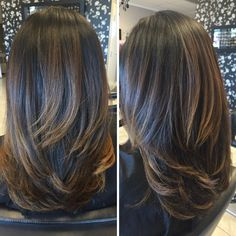 Inspiration by Ashley Oldfield from Hotheadz hair salon. Inspiration by A Medium Length Hair With Layers, Medium Long Hair, Long Layered Hair, Medium Hair Cuts, Long Hair Cuts, Medium Hair Styles, Long Hair Styles, Long Hair Trim, Blowout Hair