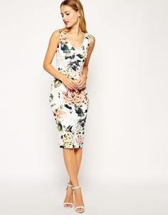 'Garden Rose' pencil dress from ASOS
