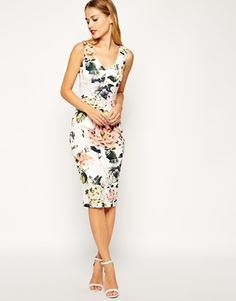 'Garden Rose' pencil dress from ASOS