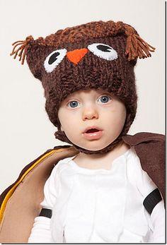 Baby owl hat knit free pattern