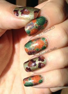 Acorn Nail Art with Autumn Dotticure  http://ehmkaynails.blogspot.com/2013/11/acorn-nail-art-with-autumn-dotticure.html