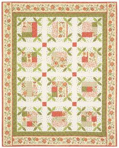 Timeless Treasures Quilt Fabric | Emma by Timeless Treasures - Queen Bee #Quilt Pattern by Sewn Into The ...