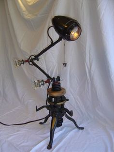 Steampunk Lamp is so cool
