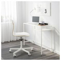 IKEA VITTSJÖ laptop table Self-adhesive cable clips keep your cords in place and out of sight.