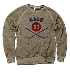 Rick Nash Officially Licensed NHLPA New York Unisex Crew Sweatshirt S-2XL Rick Nash Sticks B