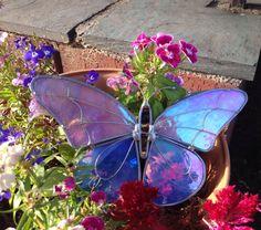 Витраж бабочка Night Light, Sun Catcher, Ветер Chime Или Декор сада