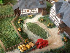 Making a miniature farm in N scale