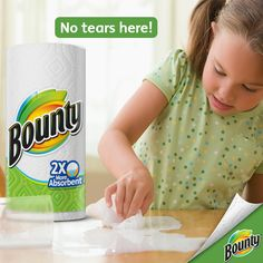 With Bounty, every day is Don't Cry Over Spilled Milk Day.