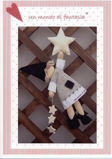 Bruxa de Pano. Muchos modelos con moldes para decorar la casa para navidad.