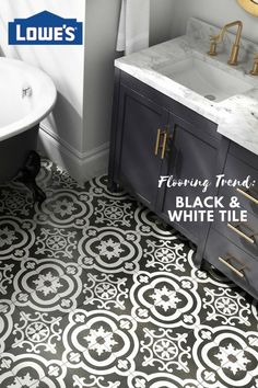 Experience a unique combination of timeless Italian Design. History and style collide with this old world black and white pattern tile.