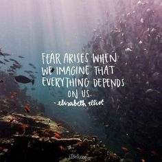 Fear arises when we imagine that everything depends on us. #fear #truth