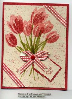 KC Terrific Tulips Paper Ribbon by kittie747 - Cards and Paper Crafts at Splitcoaststampers
