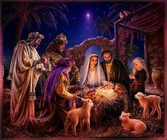 IMAGES POUR BLOGS ET FACEBOOK: Belle crèche de Noël