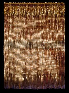 Woven work by renowned Colombian artist Olga de Amaral.