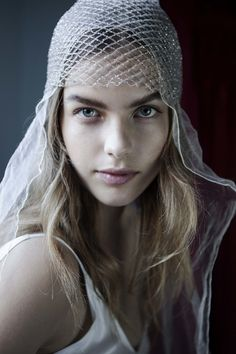 Crystal Beanie and Shadow Silk Veil