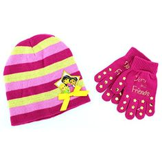 Dora and Friends Girls Knit Hat with Gloves Set (Pink/Gold) Nickelodeon http://www.amazon.com/dp/B00N93AU8C/ref=cm_sw_r_pi_dp_Eoleub01CSNEV