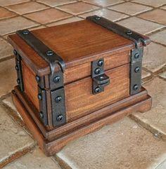 Wood Jewelry Box Rustic  DOREALISTUDIOROMA