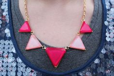 pink Rugged Wearhouse banner necklace