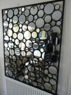 contemporary-metal-wall-art-glass-pebble-mirror-Mirror-Wall-Art-wall-decoration-ideas