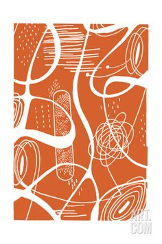Squiggle Shape Pattern Print by Pop Ink - CSA Images at Art.com