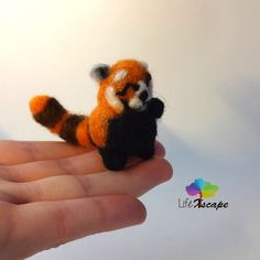 Playful Red Panda - Needle Felted Miniature looking for a new home!