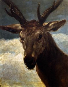 Head of a Stag Artist: Diego Velazquez Completion Date: 1634 Style: Baroque Genre: animal painting Technique: oil Material: canvas Dimensions: x cm Gallery: Museo del Prado, Madrid, Spain Tags: animals, deer Oil On Canvas, Canvas Art, Canvas Prints, Art Prints, Spanish Painters, Spanish Artists, Vintage Printable, Diego Velazquez, Oil Painting Reproductions