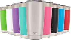 Simple Modern Tumbler Vacuum Insulated 20oz Cruiser with Lid - Double Walled Stainless Steel Travel Mug - Sweat Free Coffee Cup - Compare to Yeti and Contigo - Simple Stainless ** For more information, visit image link.  This link participates in Amazon Service LLC Associates Program, a program designed to let participant earn advertising fees by advertising and linking to Amazon.com.
