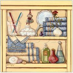 Her Bathroom Shelf - Janet Kruskamp
