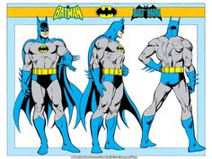 Batman image from the 1982 DC Comics Style Guide. See all the images here: https://www.facebook.com/media/set/?set=a.207954002578217.59091.207950722578545